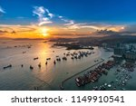 aerial view sunset at victoria...   Shutterstock . vector #1149910541