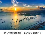 aerial view sunset at victoria...   Shutterstock . vector #1149910547