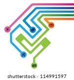 social media technology | Shutterstock .eps vector #114991597