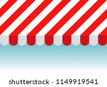 red and white striped sunshade. ... | Shutterstock .eps vector #1149919541