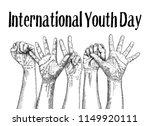 international youth day design... | Shutterstock .eps vector #1149920111