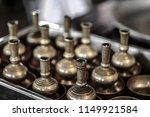 pour water of dedication brass... | Shutterstock . vector #1149921584