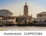 beautiful crimson dome of santa ... | Shutterstock . vector #1149922184