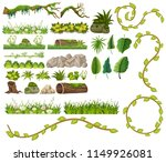 a set of jungle element... | Shutterstock .eps vector #1149926081