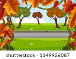 a beautiful nature road... | Shutterstock .eps vector #1149926087
