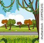 a beautiful nature road...   Shutterstock .eps vector #1149926141