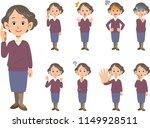 elderly female facial...   Shutterstock .eps vector #1149928511