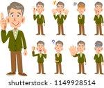 elderly man men expression and... | Shutterstock .eps vector #1149928514