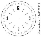 clock face for house  alarm ... | Shutterstock .eps vector #1149932111
