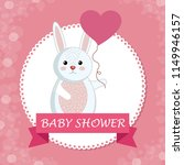 baby shower card with cute... | Shutterstock .eps vector #1149946157
