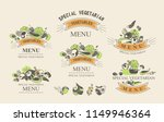 set of labels with vegetarian... | Shutterstock .eps vector #1149946364
