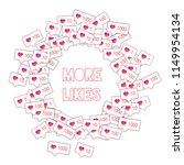 social media icons. social...   Shutterstock .eps vector #1149954134