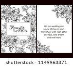 romantic wedding invitation... | Shutterstock .eps vector #1149963371