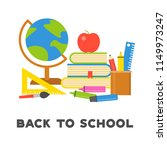 back to school poster and... | Shutterstock .eps vector #1149973247