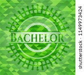 bachelor green emblem with...   Shutterstock .eps vector #1149973424