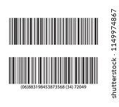 set of barcode and number icon. ... | Shutterstock .eps vector #1149974867