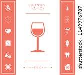 wineglass symbol icon | Shutterstock .eps vector #1149976787