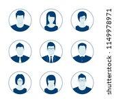 default avatar profile icon set.... | Shutterstock .eps vector #1149978971