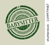 green babysitter distress... | Shutterstock .eps vector #1149979487