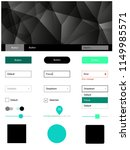 light green vector ui kit in...