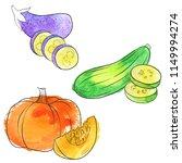 vector drawing pumpkin ...   Shutterstock .eps vector #1149994274