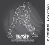 illustration of tennis player... | Shutterstock .eps vector #1149994307