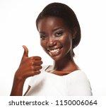beautiful young african  woman... | Shutterstock . vector #1150006064