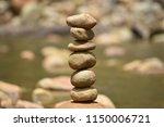 balance stones stacked. | Shutterstock . vector #1150006721