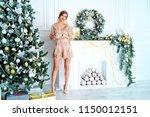 christmas  winter holidays... | Shutterstock . vector #1150012151