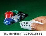 casino games concept poker... | Shutterstock . vector #1150015661