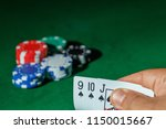 casino games concept poker... | Shutterstock . vector #1150015667