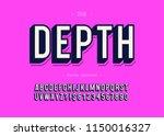vector depth trendy alphabet 3d ... | Shutterstock .eps vector #1150016327