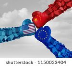 european  china and american... | Shutterstock . vector #1150023404