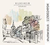 hildesheim  germany  europe.... | Shutterstock .eps vector #1150024934