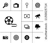 focus icon. collection of 13... | Shutterstock .eps vector #1150025714