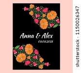 autumn wedding save the date... | Shutterstock .eps vector #1150026347