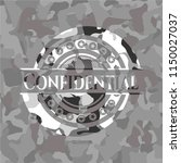 confidential on grey camouflage ... | Shutterstock .eps vector #1150027037