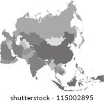 asia map | Shutterstock . vector #115002895