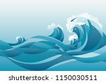 high tide water waves... | Shutterstock .eps vector #1150030511