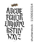 gothic  english alphabet.... | Shutterstock .eps vector #1150032314