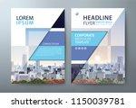 annual report brochure flyer... | Shutterstock .eps vector #1150039781