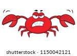 angry crab cartoon mascot... | Shutterstock .eps vector #1150042121