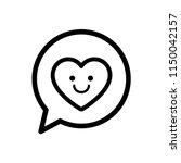 smile heart icon in a speech... | Shutterstock .eps vector #1150042157