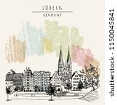 hanseatic city of  lubeck ... | Shutterstock .eps vector #1150045841
