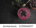flat lay composition with bowl... | Shutterstock . vector #1150046057