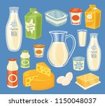 dairy products isolated  bitmap ... | Shutterstock . vector #1150048037