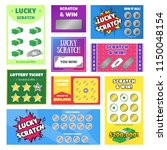 cartoon scratch cards and...   Shutterstock .eps vector #1150048154