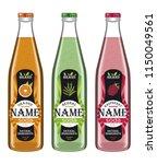 collection transparent bottles... | Shutterstock .eps vector #1150049561