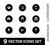 hairstyle icon. collection of 9 ... | Shutterstock .eps vector #1150052684