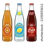 collection transparent bottles...   Shutterstock .eps vector #1150053611
